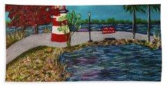 Mount Dora Lighthouse Hand Towel