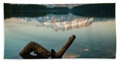Mount Rundle And Two Jack Lake Bath Towel