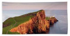 Neist Point Sunset - Isle Of Skye Bath Towel