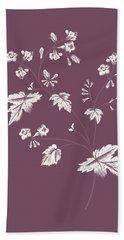 Phacelia Purple Flower Bath Towel