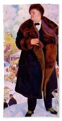 Portrait Of Fyodor Chaliapin Hand Towel