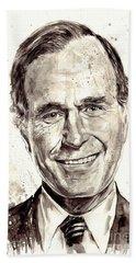 President George H. W. Bush Portrait Hand Towel