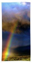 Rainbow During Sunset Bath Towel
