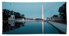 Reflection Of The Washington Monument In The Pool At Pool At The National Mall. Original Image From  Bath Towel