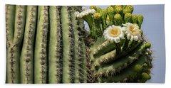 Saguaro Blooms To The Sky  Bath Towel