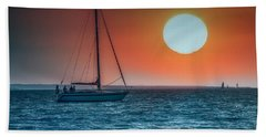 Sailing Into The Sunset Hand Towel