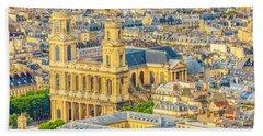 Saint Sulpice Church Paris Bath Towel