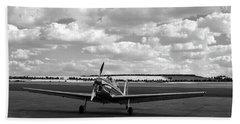 Silver Airplane Duxford England Bath Towel