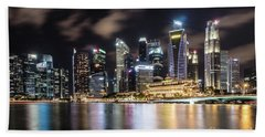 Singapore By Night Hand Towel
