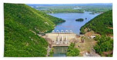 Smith Mountain Lake Dam Hand Towel