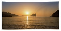 Sunrise On A Beach In Aguilas, Murcia Hand Towel