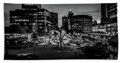 Hand Towel featuring the photograph The Calling At Blue Hour by Randy Scherkenbach