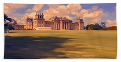The White Party Tent Along Blenheim Palace Bath Towel