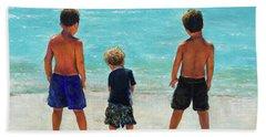 Three Beach Boys Aqua Sea Hand Towel