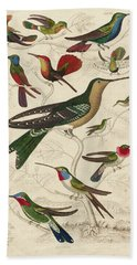 Trochilus, Hummingbirds Bath Towel