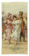 Two Strings To His Bow And The Fete At St. Cloud, 19th Century Bath Towel
