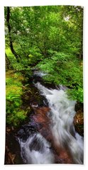 Waterfall In The Forest Bath Towel