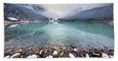 Winter Morning At Lake Louise Hand Towel