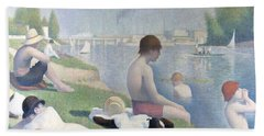 Bathers At Asnieres Hand Towel