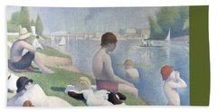 Bathers At Asnieres Hand Towel