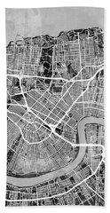 New Orleans Street Map Bath Towel