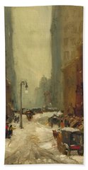 Snow In New York Hand Towel