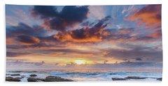 An Atmospheric Sunrise Seascape Hand Towel