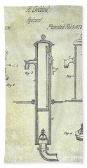 1858 Fire Hydrant Patent Bath Towel