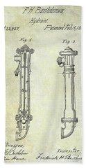 1859 Fire Hydrant Patent Bath Towel