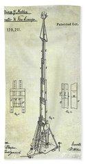 1871 Fire Hose Elevator Patent Bath Towel