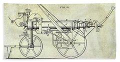 1875 Ladder Truck Patent Bath Towel