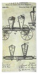 1878 Fire Truck Patent Bath Towel