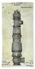 1889 Fire Hydrant Patent  Bath Towel