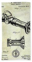 1896 Fire Hose Spray Nozzle Patent  Bath Towel