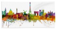 Paris Skyline Hand Towels