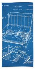 1924 Coleman Camp Stove Blueprint Patent Print Bath Towel