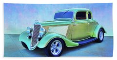 1934 Green Ford Bath Towel
