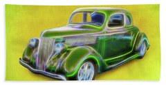 1936 Green Ford Bath Towel