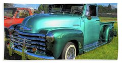1950 Chevy Pickup Lowrider Bomb Bath Towel