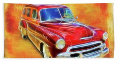 1951 Chevy Woody Hand Towel