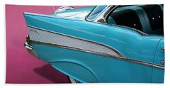 Bath Towel featuring the photograph Turquoise 1957 Chevrolet Bel Air by Debi Dalio