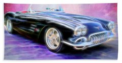1958 Chevrolet Corvette Bath Towel
