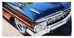 1959 Chevrolet Biscayne Painted 004  Black Bath Towel