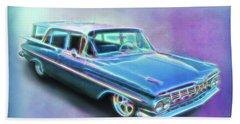 1959 Chevy Wagon Hand Towel