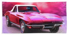 1965 Red Vette Bath Towel
