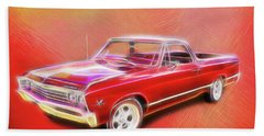 1967 El Camino Bath Towel