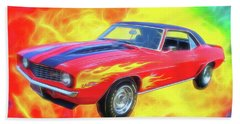 1969 Flaming Z Hand Towel