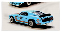 1969 Ford Mustang Boss 302 Hand Towel