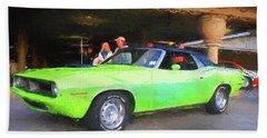 1970 Green Cuda Hand Towel