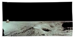 Apollo 11 Panorama Of The First Men Hand Towel